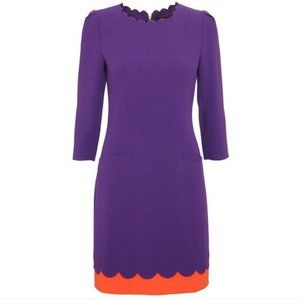 Ted Baker Payton Purple Orange Scallop Dress 2 nwo